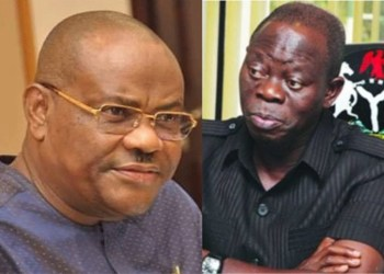 Governor Nyesom Wike of Rivers State and Comrade Adams Oshiomhole