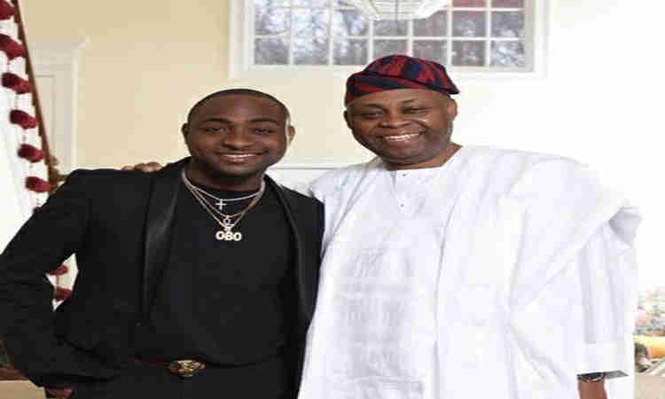 Davido and father, Prince Adeleke