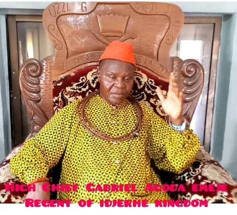 Regent of Idjerhe Kingdom, High Chief Gabriel Agoda Emeje