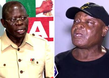 Comrade Adams Oshiomhole and Stephen Oshawo
