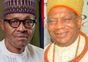 President Muhammadu Buhari and Olorogun Moses Taiga