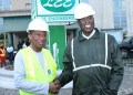 Chief Timipre Sylva and Executive Chairman of Lee Engineering and Construction Company, Dr Lee Ikpea uring A Tour Of The Company's fabrication Plant, In Warri, Delta State, On Friday