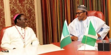Bishop Matthew Kukah and President Muhammadu Buhari