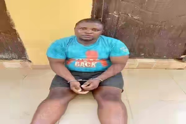 Chikezie Precious who faked his own abduction after he was arrested