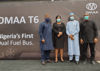 (Left to right) Dr. Ishaku Abner, Technical Assistant (Downstream) to the Hon. Minister of State for Petroleum Resources; Mrs Pat Igwebuike, Special Adviser to the Anambra State Governor on Legal Matters; Dr. Mohammed M. Ibrahim, Chairman National Gas Expansion Programme (NGEP) and Chinedu Oguegbu, Founder and CEO, OMAA
