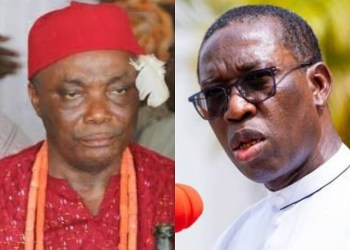 Senator Peter Nwaoboshi and Governor Ifeanyi Okowa