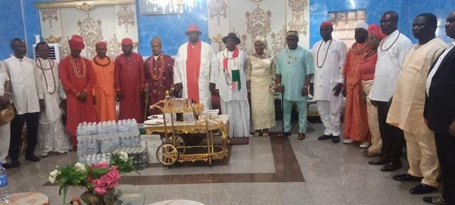 Olorogun Kenneth Gbagi and Ijaw traditional rulers