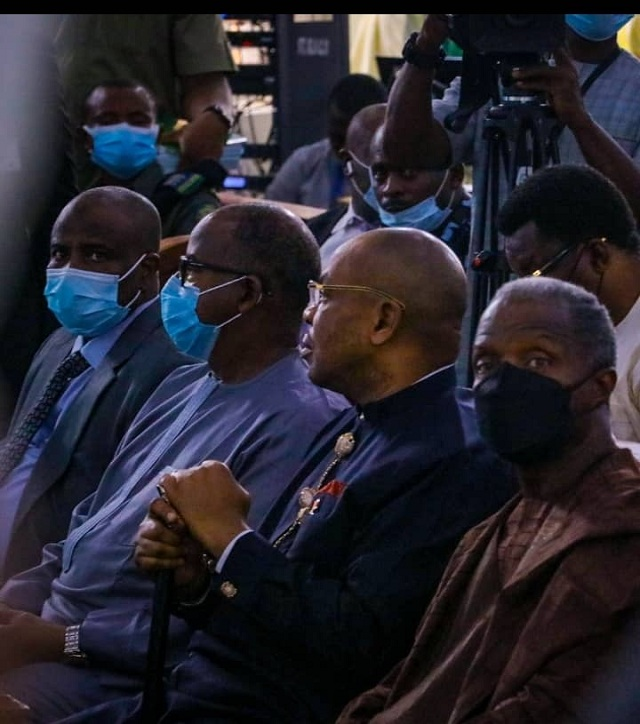 Vice President Yemi Osinbajo and other dignitaries at the burial of Pa Okowa, father of Governor Ifeanyi Okowa of Delta State at Owa-Alero