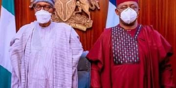 Femi Fani-Kayode with President Muhammadu Buhari