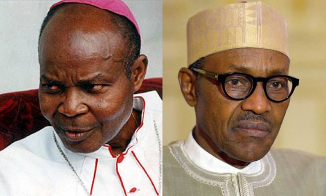 Cardinal Okogie and Buhari