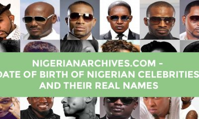 date of birth of Nigerian celebrities