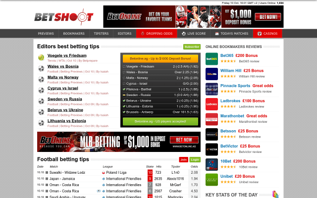 betshoot website screenshot - best football prediction site