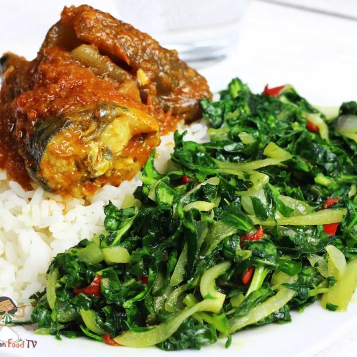 Spinach stir fry : easy healthy recipe