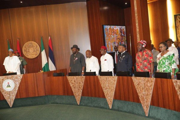 Image result for buhari and niger delta leaders