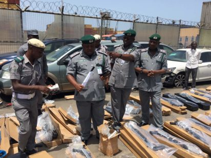 Image result for container loaded with guns arrested