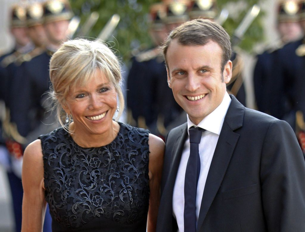 Image result for Macron and wife
