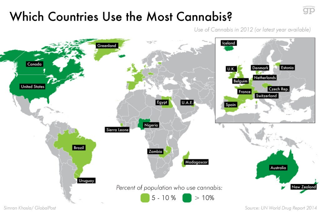 Countries that Smoke the Most Marijuana