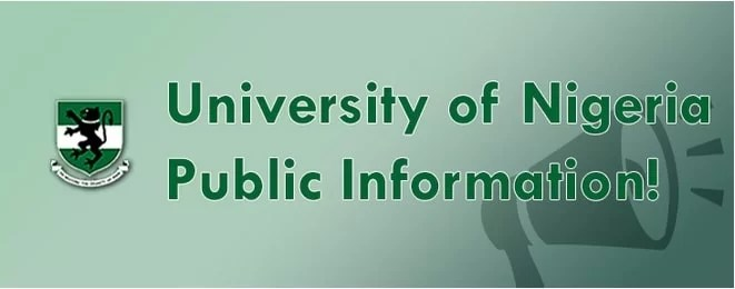UNN Advert/Shopping Admission List is out - 2017/2018