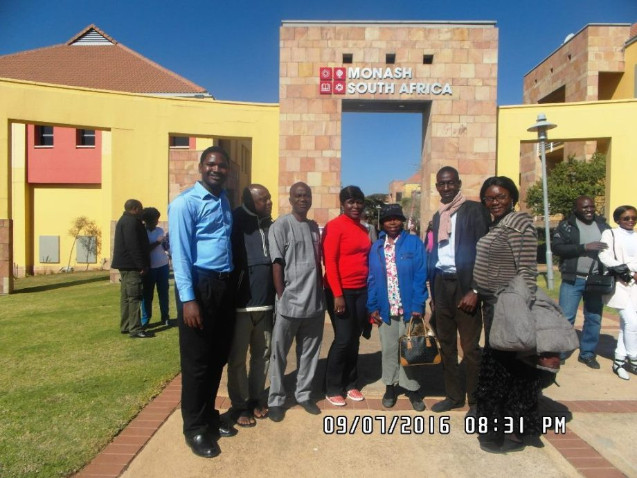 Parents with Nigeria Spelling Bee Officials at Monash South Africa during African Spelling Bee