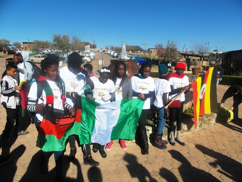 Team Nigeria, Team Malawi and Team Uganda