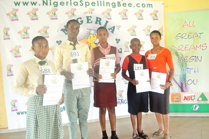 Top5 spellers at Abia State Qualifier