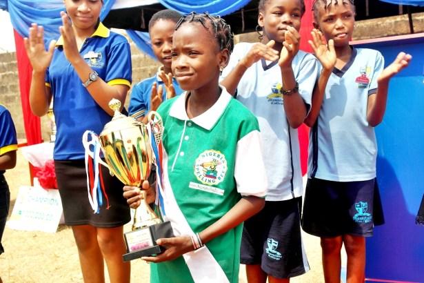 Presentation of Trophy to Eniola Grace Idowu