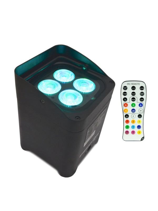 Projecteurs à LED sans Fil Freedom 4x 10W avec la télécommande