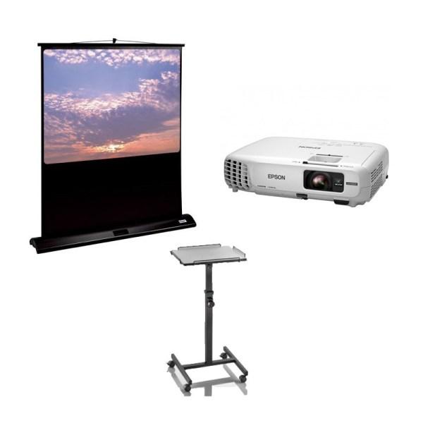 Pack Vidéoprojecteur 3000 lumens + Ecran 135 x 180