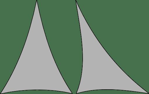 Triangle de Lycra Extensible 550cm x 300cm