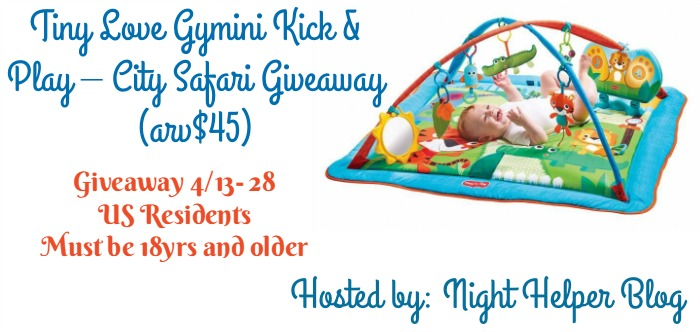 tiny love gymini kick and play giveaway