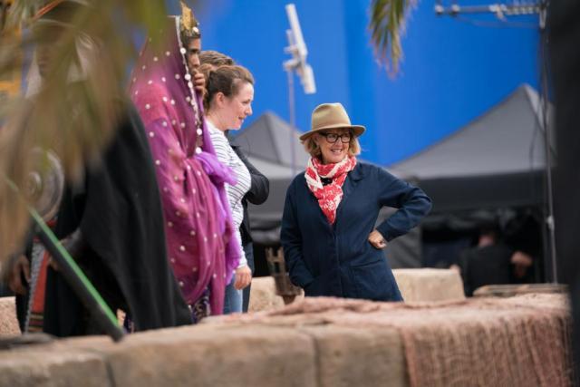Gemma Jackson on the set of ALADDIN