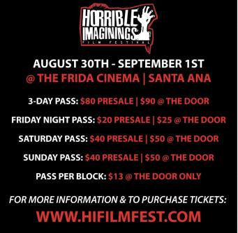 [NEWS] HORRIBLE IMAGININGS FILM FESTIVAL Advanced Passes on Sale!