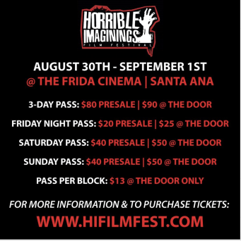 [NEWS] HORRIBLE IMAGININGS FILM FESTIVAL Advanced Passes on Sale!