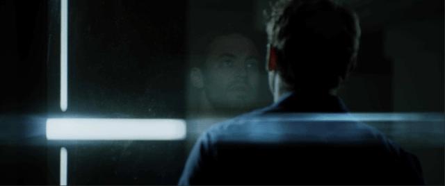 Brendan looks in awe at the quantum computer