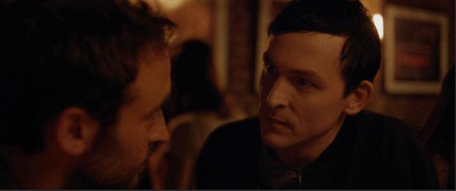 Matt stares at Brendan in a bar