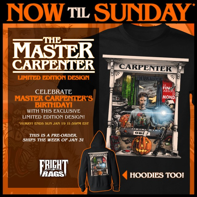 [News] Celebrate John Carpenter's Birthday with Fright-Rags' Limited Edition Design