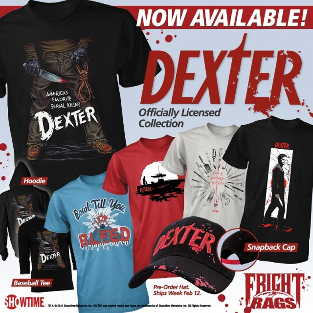 [News] DEXTER is Prepared to Slice & Dice Fright-Rags With Latest Apparel