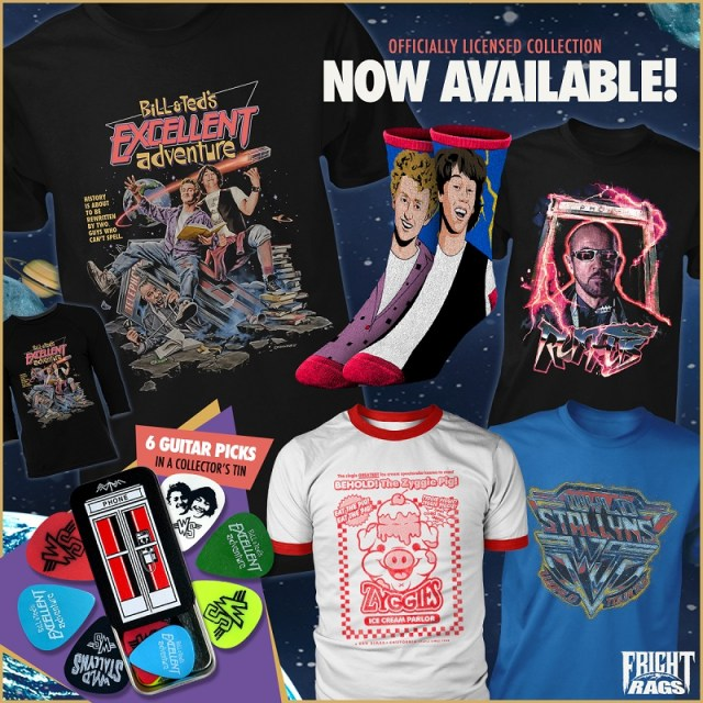 [News] Fright-Rags Launches BILL & TED, ESCAPE FROM NEW YORK, & EC COMICS Apparel