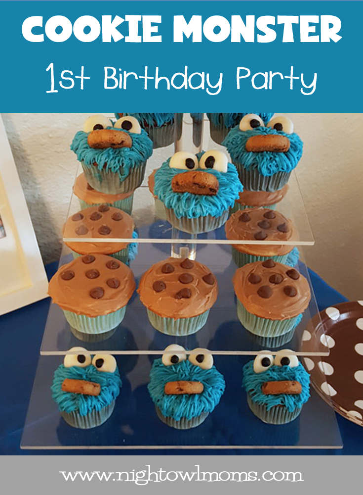 Cookie Monster First Birthday Party Night Owl Moms