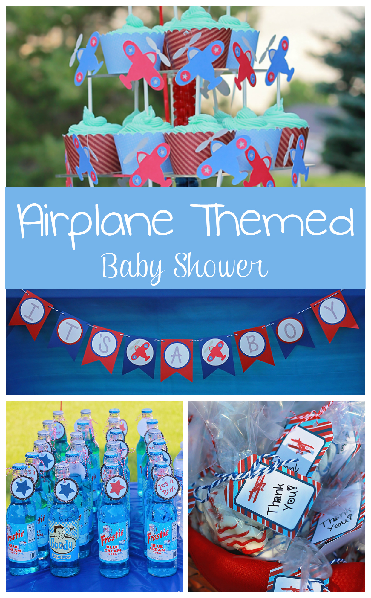 Airplane Themed Baby Shower ⋆ Night Owl Moms