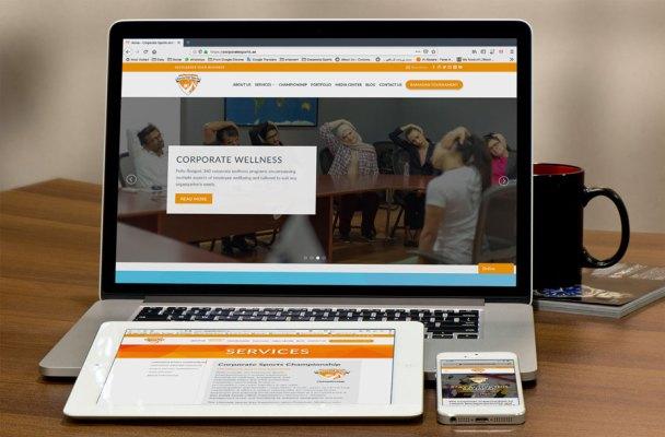 Corporate Sports Website, Social Media and Print Design