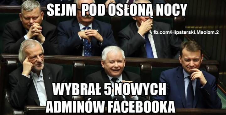 Сейм под покровом ночи выбрал пять новых админов фейсбука