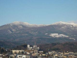 安達太良山冬の風景の写真