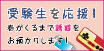 """受験生を応援キャンペーン☆春がくるまで""""誘惑""""をミニコンへ詰める!"""