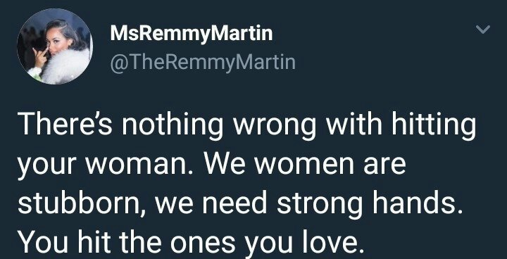 Lady says there is nothing wrong in hitting a woman because women are stubborn and need strong hands