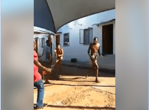 RESIDENTS BEATS THE HELL OUT OF TWO GAY MEN AFTER THEY WERE CAUGHT WHILE HAVING SEX