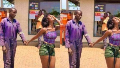 Photo of Mechanic in shock after the lady he proposed to on Facebook & sent transport fare, showed up