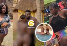 Photo of Video of Slay Queen, Ama Coke being 'ch0pped' in a swimming pool hits online