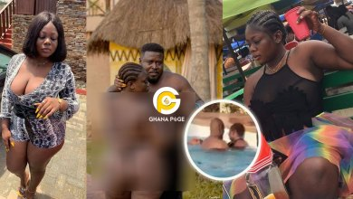 Photo of Video of Slay Queen, Ama Coke being 'chopped' in a swimming pool hits online