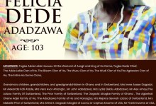 Photo of The African Pioneer Of Children And Women's Right Movement Felicia Dede Adadzawa Of Ho Dome Ghana Goes Home At The Age Of 103
